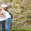 Stock Photo: Boy and girl kissing