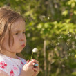 Girl and dandelion — Stock Photo #22475993