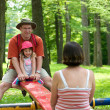 Family in a park — Stock Photo #22478305