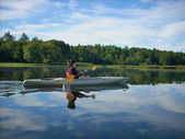 Peaceful kayak — Stock Photo