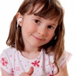 Girl listening to music — Stock Photo