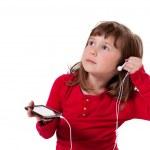 Girl listening to music — Stock Photo #22713639