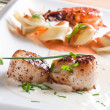 Stock Photo: Roasted scallops