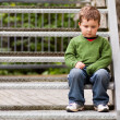 Stock Photo: Sad little boy