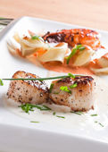 Roasted scallops — Stock Photo