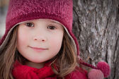 Little winter girl — Stock Photo