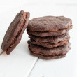 Dark chocolate cookies — Stock Photo