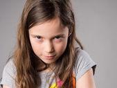 Stubborn little girl — Stock Photo