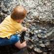 Babysitting in Wasser — Stockfoto