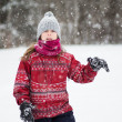 Young girl in the snow — Stock Photo #35365857