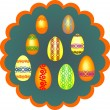 Stock Vector: Painted eggs for Easter