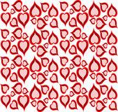 Cute retro design background of hearts — Stock Vector