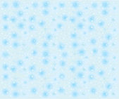 Seamless snowflakes background with stars — Stock Vector
