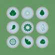 set of eco icons buttons — Stock Vector #32869477