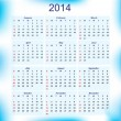 New Year 2014 calendar for all months — Stock Vector