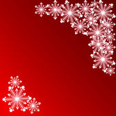 Snowflake on a red background for a card — Stock Vector