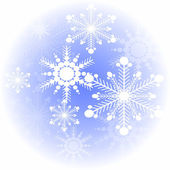 Snowflakes on a blue abstract background. — Stock Vector