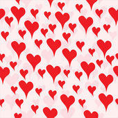 Seamless background with hand drawn hearts — Stock Vector