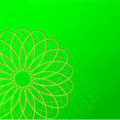 Зеленые Обои фон с круглыми — Cтоковый вектор