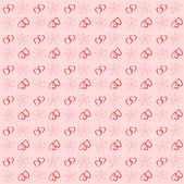 Vintage seamless background with hearts valentine — Vector de stock