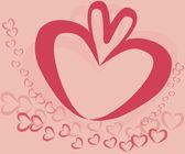 Biglietto di auguri con un regalo e il cuore — Vettoriale Stock