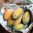 Papaya for sell in the basket — Stock Photo