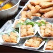 Spring roll in box for sell — Stock Photo
