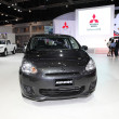 Stock Photo: NONTHABURI - NOVEMBER 28: Mitsubishi Mirage car on display at Th