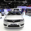 Stock Photo: NONTHABURI - NOVEMBER 28: Proton Preve car on display at 30t