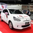 Stock Photo: NONTHABURI - NOVEMBER 28: Mitsubishi Mirage meets Hello Kitty ca