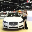 NONTHABURI - NOVEMBER 28: Jaguar XF car with unidentified model — Stock Photo