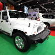 NONTHABURI - NOVEMBER 28: Jeep Wrangler unlimited car on display — Stock Photo #37736765