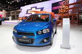 NONTHABURI - NOVEMBER 28:Chevrolet Sonic NB 1.6 car on display a — Stock Photo