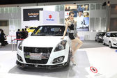 NONTHABURI - NOVEMBER 28: Suzuki Swift sport car with unidentifi — Stock Photo