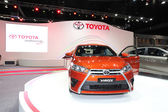 NONTHABURI - NOVEMBER 28: TOYOTA Yaris car on display at The 30t — Foto de Stock