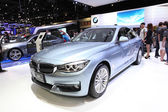 NONTHABURI - NOVEMBER 28: BMW 320d GT Luxury car on display at T — Foto de Stock