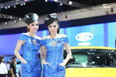 BANGKOK - MARCH 26 : Ford car with Unidentified model on display at The 34th Bangkok International Motor Show 2013 on March 26, 2013 in Bangkok, Thailand. — Stock Photo