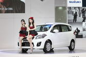 BANGKOK - MARCH 26 : White Suzuki car with Unidentified models on display at The 34th Bangkok International Motor Show 2013 on March 26, 2013 in Bangkok, Thailand. — Stock Photo