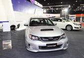 Subaru WRX STi 2.5 4D on display at Bangkok International Auto Salon 2013 on June 20, 2013 in Bangkok, Thailand. — Stock Photo