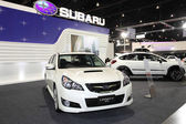 Subaru LEGACY 2.5 GT on display at Bangkok International Auto Salon 2013 on June 20, 2013 in Bangkok, Thailand. — Stock Photo