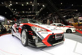 Toyota car display at Bangkok International Auto Salon 2013 on June 20, 2013 in Bangkok, Thailand. — Stock Photo