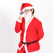 Isolated santa claus show card on overwhite background - clippin — Stock Photo