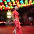 Portrait Asian Chinese woman in Traditional Chinese Cheongsam — Stock Photo #40199751