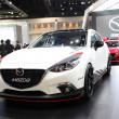 Постер, плакат: NONTHABURI March 25: Mazda Mazda3 car on display at The 35th B