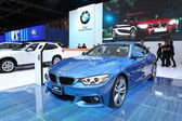 NONTHABURI - March 25: BMW 420i Coupe M Sport car on display at  — Stock Photo