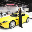Постер, плакат: BANGKOK MARCH 25 : Aston Martin V8 Vantage S car with Unidenti