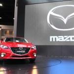 Постер, плакат: NONTHABURI March 25: Mazda Mazda3 car on display at The 35th B