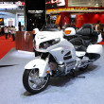 ������, ������: BANGKOK MARCH 25 : Honda BigBike Goldwing Motorcycle on displa