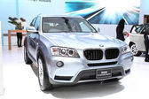 NONTHABURI - March 25: BMW X3 sDrive20i Highline car on display  — Stock Photo