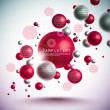 Layout Design on Vector 3D Spheres — Stock Vector #25063489
